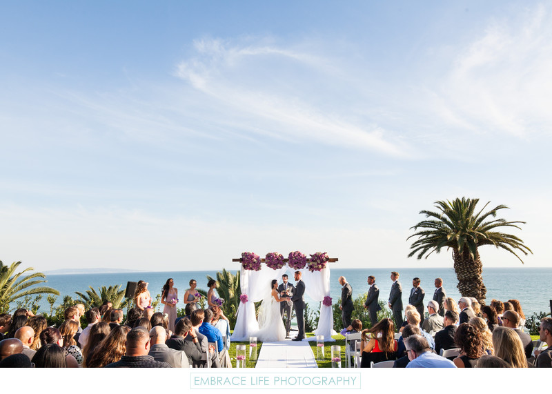 Pacific Palisades Ocean View Wedding Ceremony Location