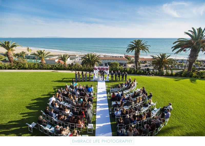 Los Angeles Wedding Ceremony Near the Beach