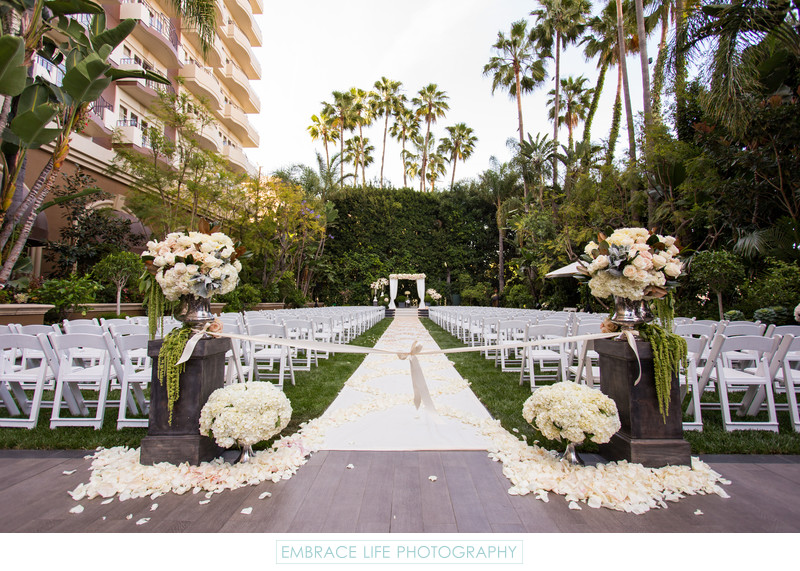 Four Seasons Los Angeles Wedding Ceremony Overview