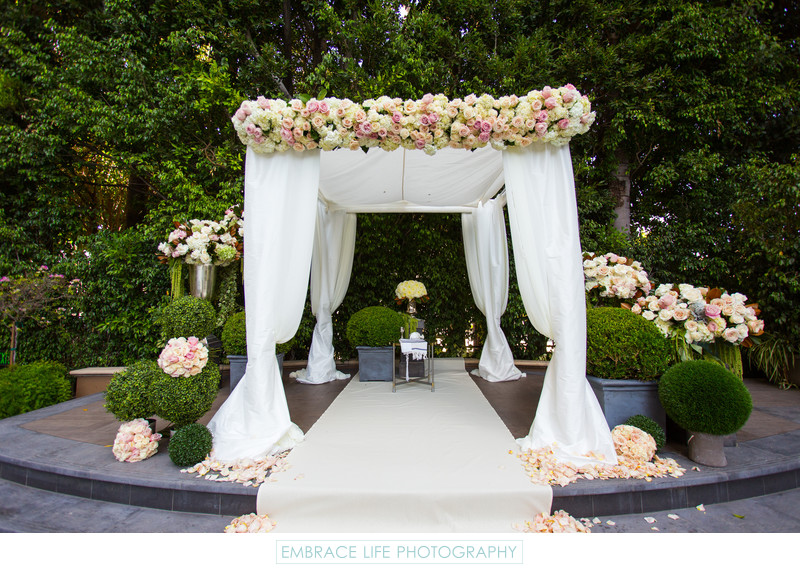 Four Seasons Los Angeles Wedding Chuppah