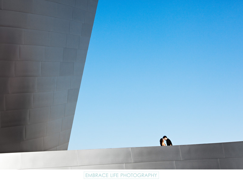 Los Angeles Engagement Session at Disney Concert Hall