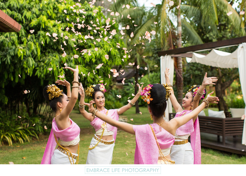 Lanna Dance at Shangri-La Chiang Mai, Thailand Wedding