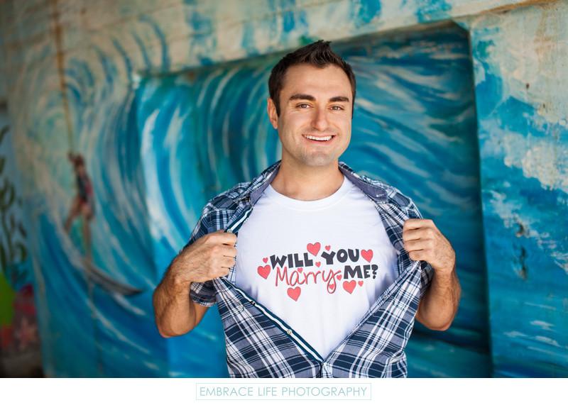 Malibu Marriage Proposal Photography