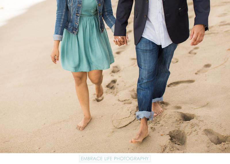 Engagement Portrait During Malibu Proposal
