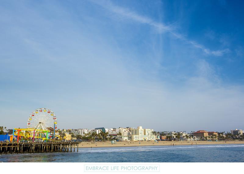 Santa Monica Ferris Wheel and Coastline