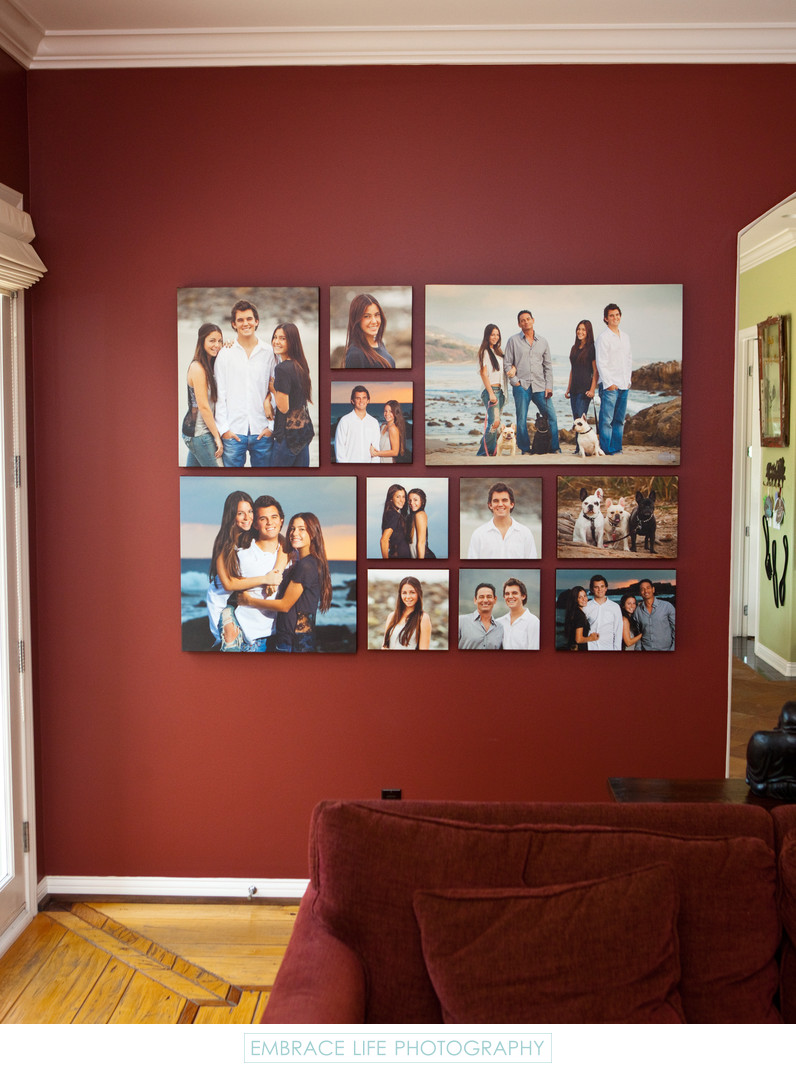 Malibu Family Portraits Custom Canvas Collection