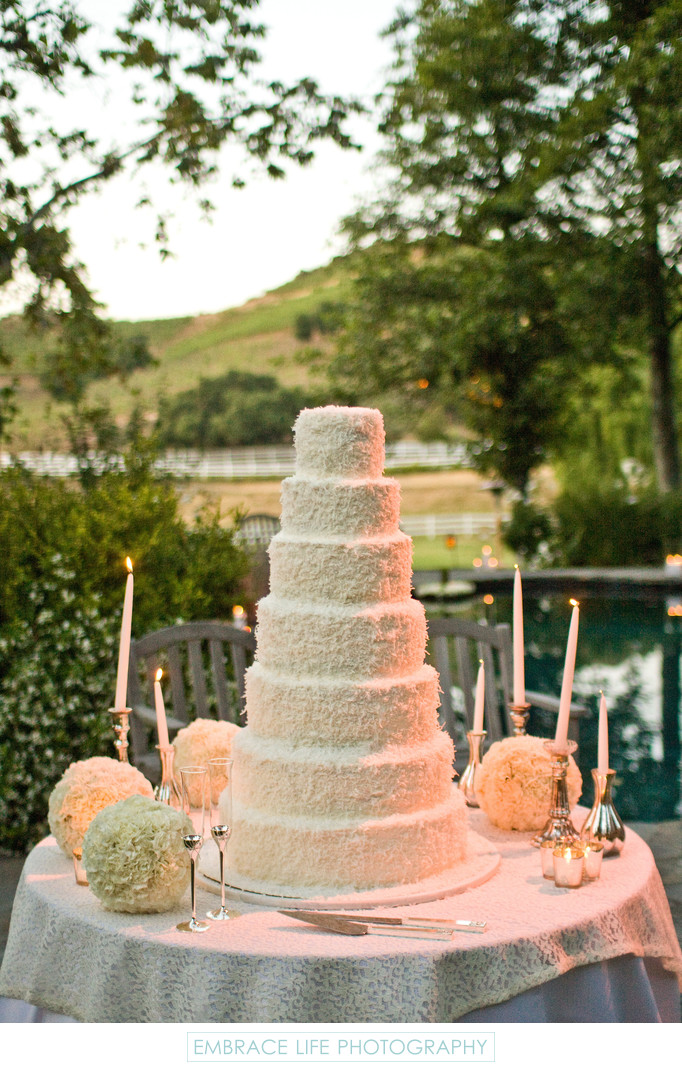 Malibu Wedding at Saddlerock Ranch - Cake Display