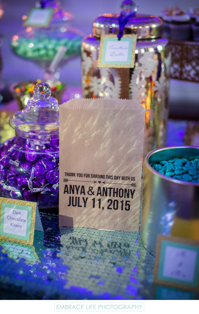 Vibiana Wedding, Los Angeles, CA - Candy Table