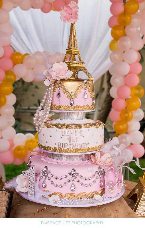 Stunning Eiffel Tower Birthday Cake