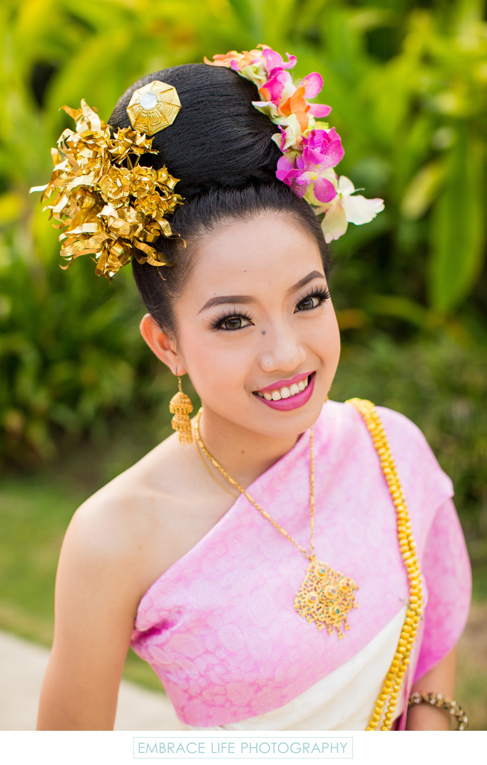 Lanna Dancer in Traditional Thai Dress and Jewelry