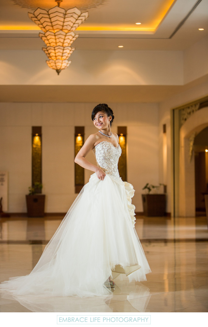 Bridal Portrait at the Shangri-La Chiang Mai Hotel