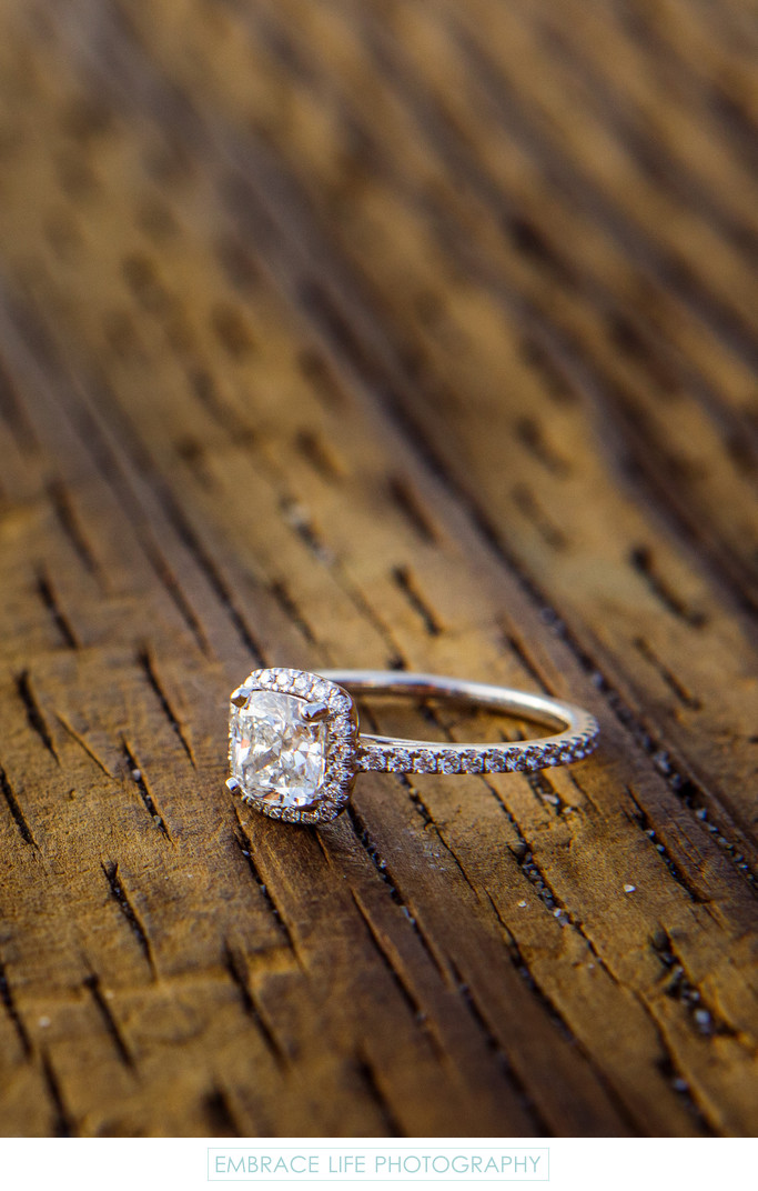 Beautiful Diamond Engagement Ring on Santa Monica Pier