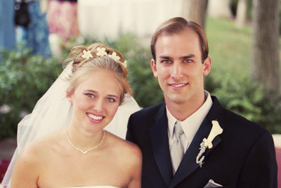 Adam and Amber on their Wedding Day