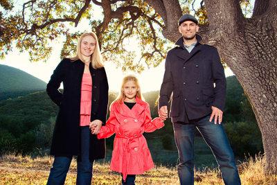 Portrait of Adam, Amber and Faith in Agoura Hills, CA