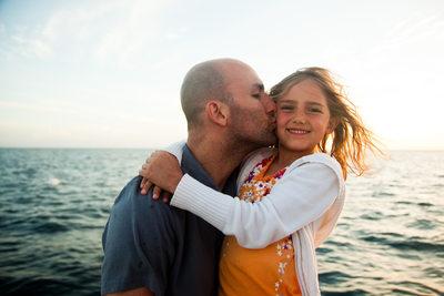Adam and Faith on a Sunset Cruise in Kauai