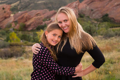 Amber and Faith at Red Rocks Outside Denver, Colorado