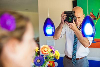 Adam Photographing a Wedding in Westlake Village, CA