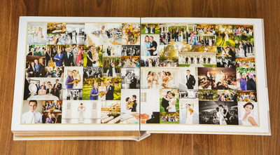 Calamigos Equestrian Wedding Photography Album Collage