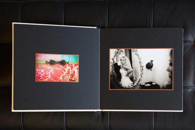 Hand Crafted Elegant Sonoma Wedding Photography Album