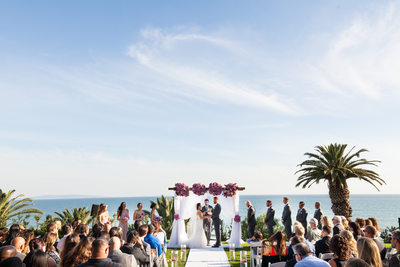 Pacific Palisades Ocean View Wedding Ceremony Location