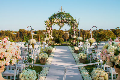 Gorgeous Outdoor Wedding Ceremony Setting