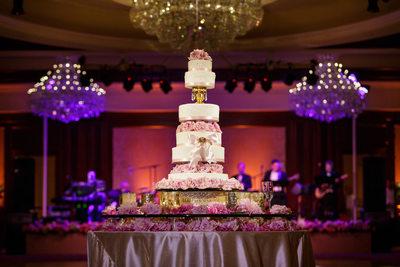 Six Tier Wedding Cake at Four Seasons Westlake Village