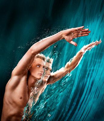 Magazine Cover Photo Olympic Swimmer Vladimir Morozov