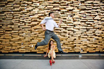 Fun Engagement Photography in Downtown Los Angeles