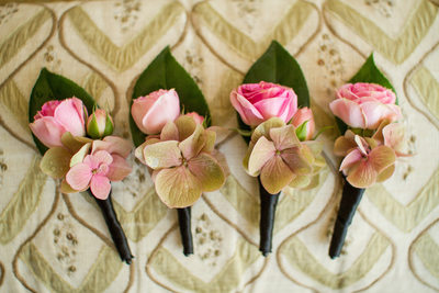 Pink Rose Boutonnieres