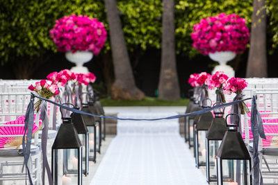 Lanterns Line Wedding Aisle