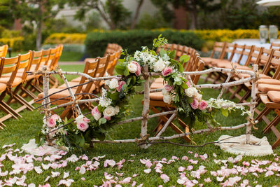 Tree Branch Wedding Aisle Divider