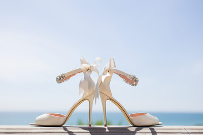 Bride's Heels with Ocean View