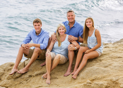 Malibu Family Portrait on the Beach