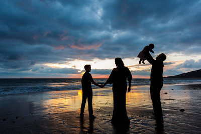 Sunset Family Portrait in Malibu, CA