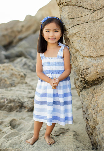 Portrait of a Child on the Beach in Santa Monica, CA