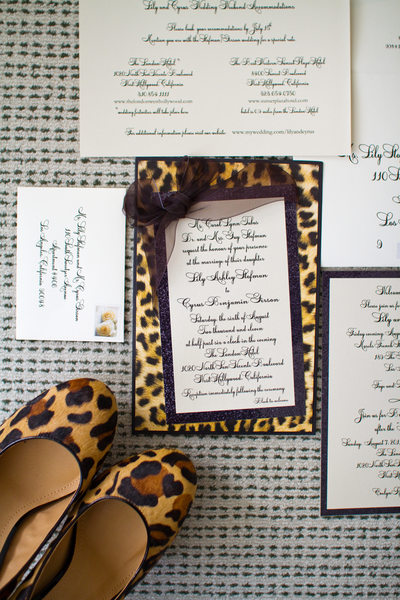 Leopard Print High Heels and Wedding Invitations