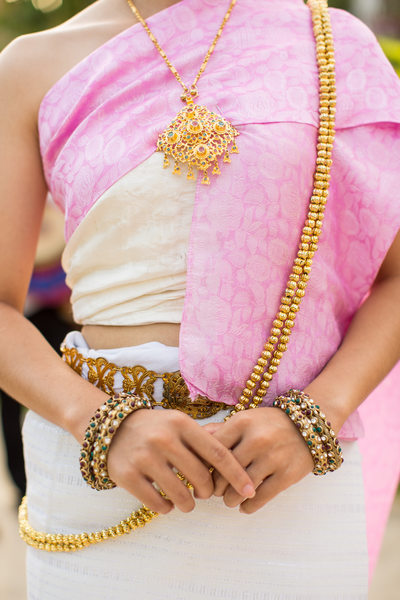 Traditional Gold Wedding Jewelry in Thailand