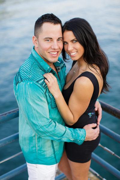 Engagement Couple Just After Santa Monica Proposal