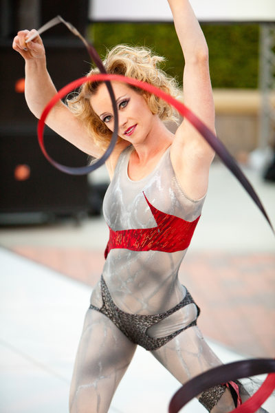 Action Photograph of Dancer Performing at Fundraiser