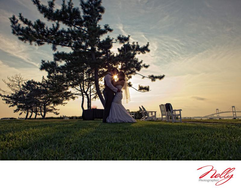 Newport Hyatt Wedding Day Sunset