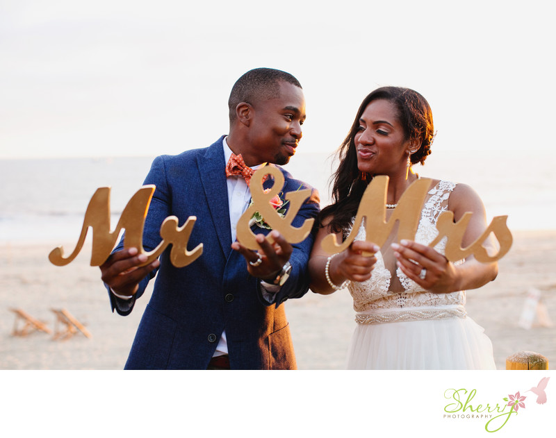 Mr & Mrs Beach Wedding