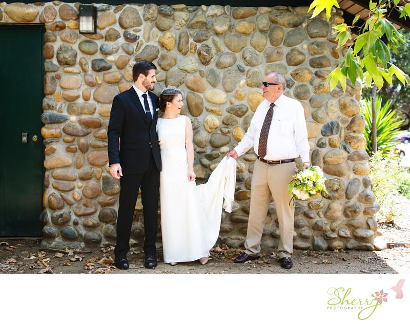 Candid Wedding Photography Midcentury style