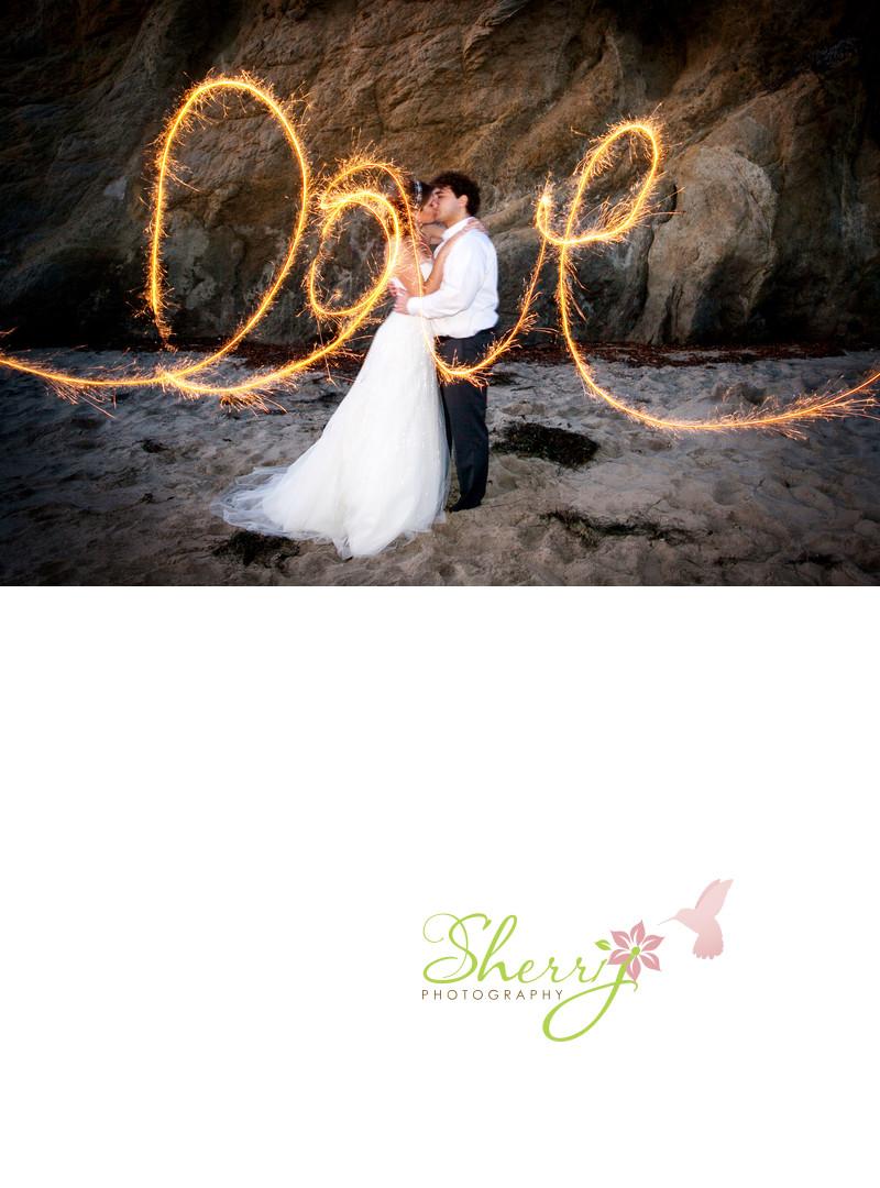 Love Sparklers Malibu Portrait