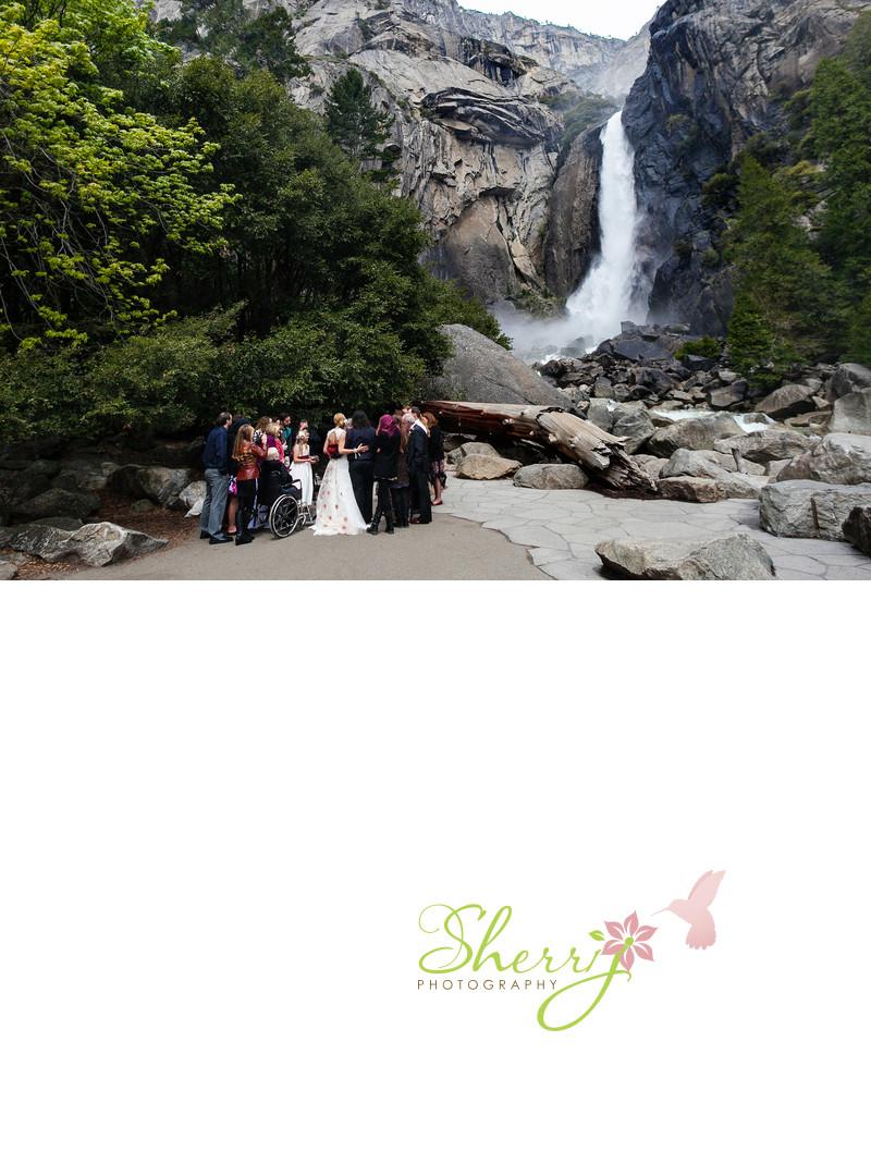 Yosemite Waterfall Wedding