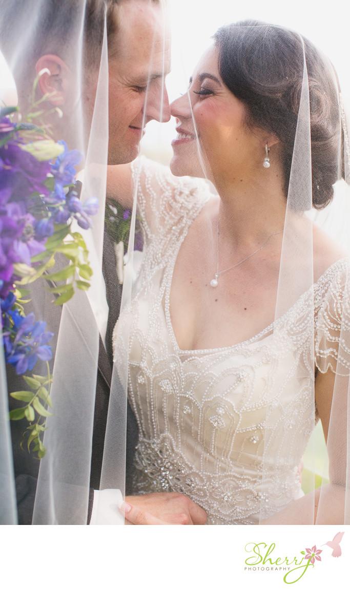 Wayfarers Chapel Wedding Bride and Groom