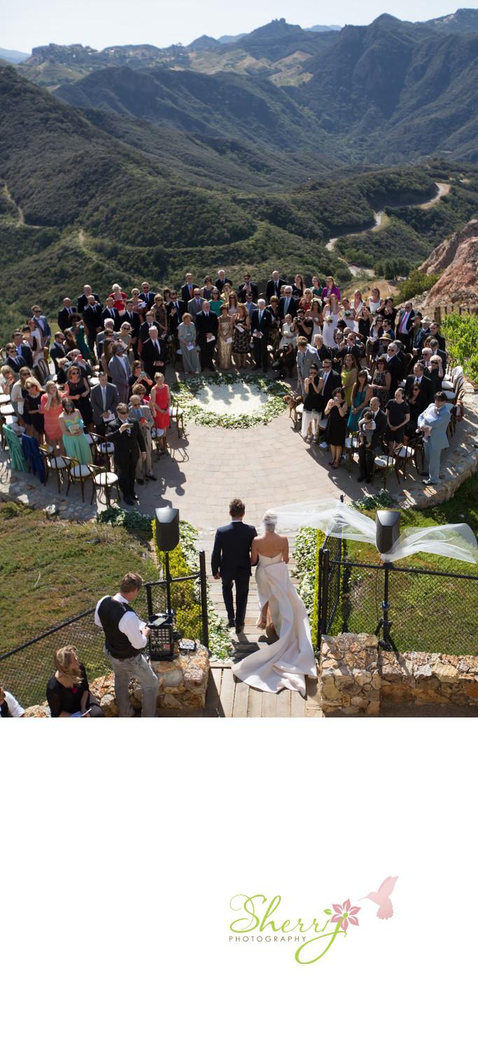Malibu Rocky Oaks Estate Vineyards Wedding Ceremony