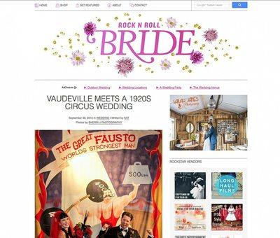 circus wedding rock n roll bride