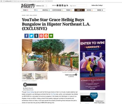 YouTube Star Grace Helbig Buys Bungalow in Northeast LA