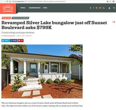 Silver Lake bungalow $799K
