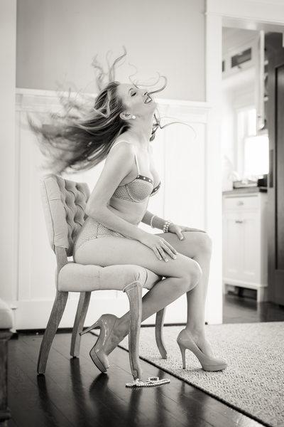 SJP boudoir hair flip